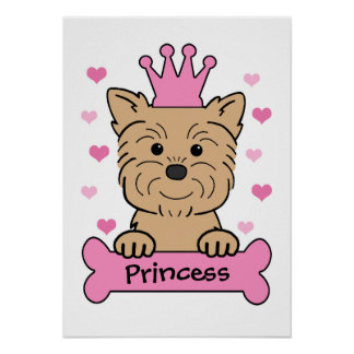 Princesse d Affenpinscher Poster