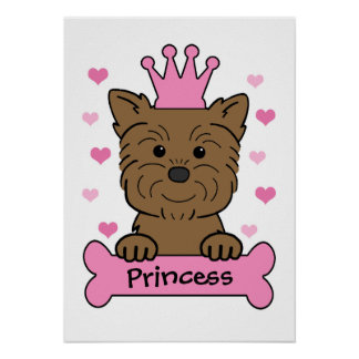 Princesse d Affenpinscher Affiches