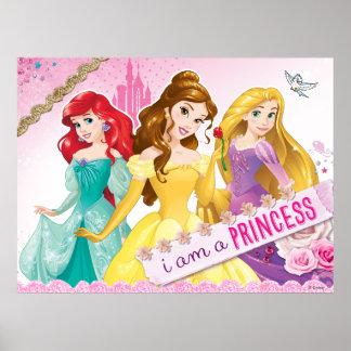 Princesse de Disney | Ariel, belle et Rapunzel Poster