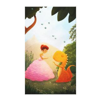 Princesse Dinosaur Fairytale Art paire parfaite Impressions Sur Toile