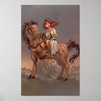 Princesse Evelet Print Poster