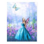 Princesse Fae dans le bleu Cartes Postales