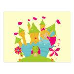 Princesse féerique blonde carte postale