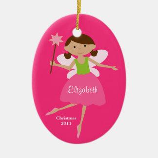 Princesse féerique Christmas Ornament Ornement Ovale En Céramique
