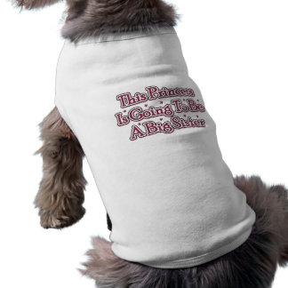 Princesse grande soeur t-shirts pour chien
