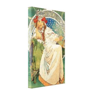 Princesse Hyacinth Canvas Poster d'Alphonse Mucha