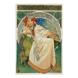 Princesse Hyacinth Poster d'Alphonse Mucha