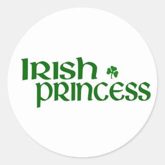 Princesse irlandaise autocollants ronds