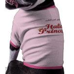 Princesse italienne - rose t-shirt pour toutou