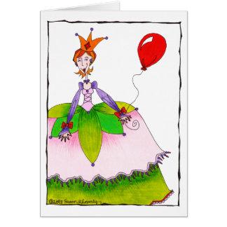 Princesse mignonne de joyeux anniversaire pour la carte de vœux