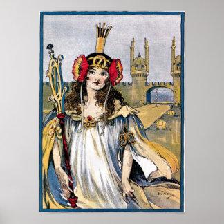 Princesse perdue d'affiche d'once poster