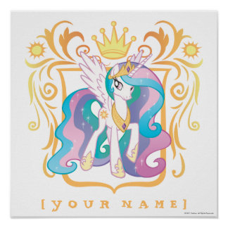 Princesse personnalisée Celestia Poster