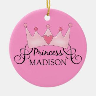 Princesse personnalisée Christmas Ornament Ornement Rond En Céramique