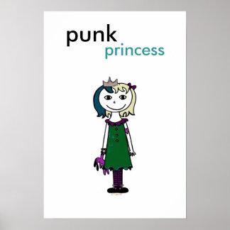 Princesse punk (cheveux blonds) poster