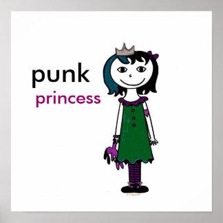 Princesse punk (cheveux noirs) poster