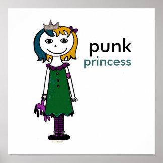 Princesse punk (cheveux rouges) posters