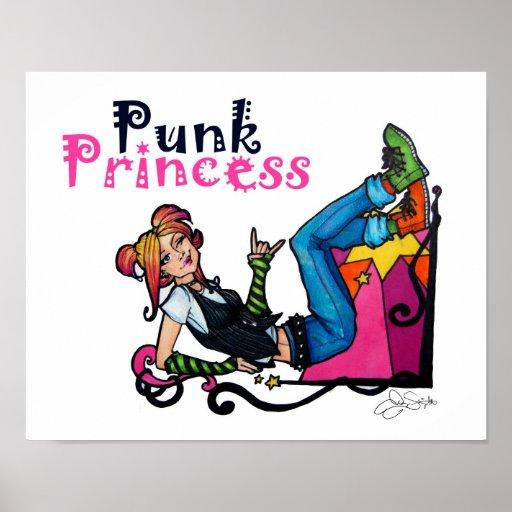 """Princesse punk"" copie Affiche"