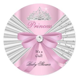 Princesse rose blanche Tiara ab de fille de baby Carton D'invitation 13,33 Cm