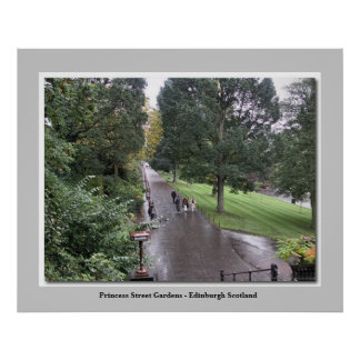 Princesse Street Gardens - Edimbourg Ecosse Poster