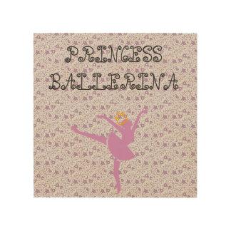 Princesse Wall Plaque de ballerine Impressions Sur Bois