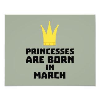 Princesses are born in MARCH Z1szr Photo Print