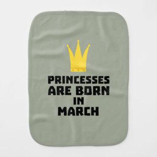 Princesses are born in MARCH Zhv17 Burp Cloth