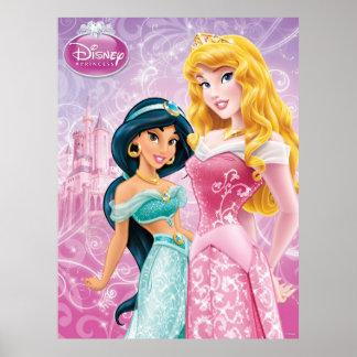 Princesses de Disney : Jasmin et aurore Poster