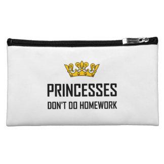 Princesses Do Not Do Homework Cosmetic Bag