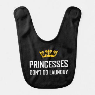 Princesses Do Not Do Laundry Bib