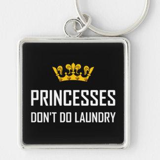 Princesses Do Not Do Laundry Keychain
