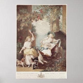 Princesses Mary, Sophia et Amelia Posters