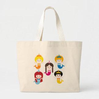 PrincessMermaid3 Large Tote Bag