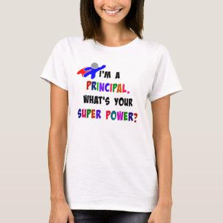 Principal Superhero Humor T-Shirt