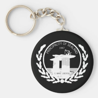 principality of sealand seal crest basic round button keychain