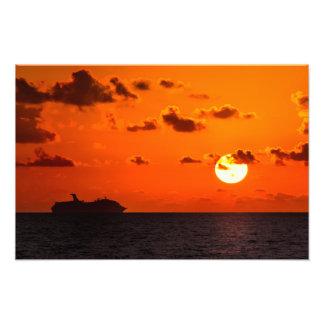 Print - Cruise Ship at Sunrise - Cancun, Mexico