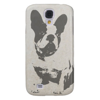 print French bulldog in vintage texture
