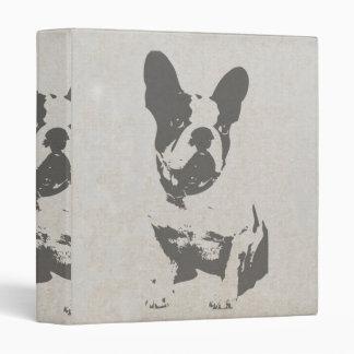 print French bulldog in vintage texture Binders