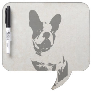print French bulldog in vintage texture Dry-Erase Board