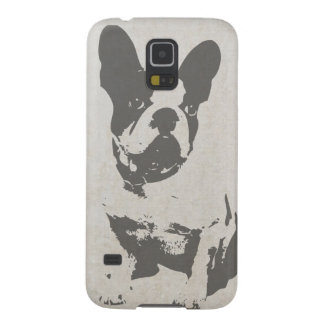 print French bulldog in vintage texture Galaxy S5 Covers
