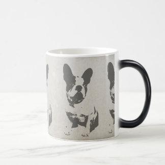 print French bulldog in vintage texture Magic Mug