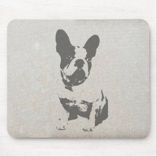 print French bulldog in vintage texture Mouse Pad
