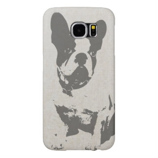 print French bulldog in vintage texture Samsung Galaxy S6 Cases
