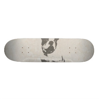 print French bulldog in vintage texture Skate Deck
