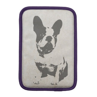 print French bulldog in vintage texture Sleeve For iPad Mini