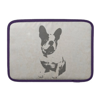 print French bulldog in vintage texture Sleeves For MacBook Air