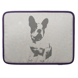 print French bulldog in vintage texture Sleeves For MacBook Pro