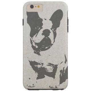 print French bulldog in vintage texture Tough iPhone 6 Plus Case