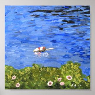 Print: Harbor Buoy, Bailey Island