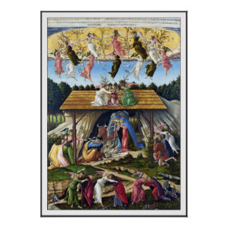 Print: Mystic Nativity by Sandro Botticelli Poster
