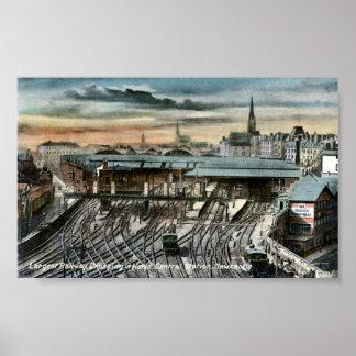Print - Newcastle-upon-Tyne Railway Junction